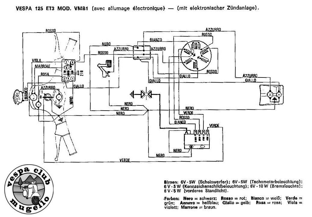 Schema Elettrico Vespa Px 125 Senza Batteria : Schemi elettrici vespa